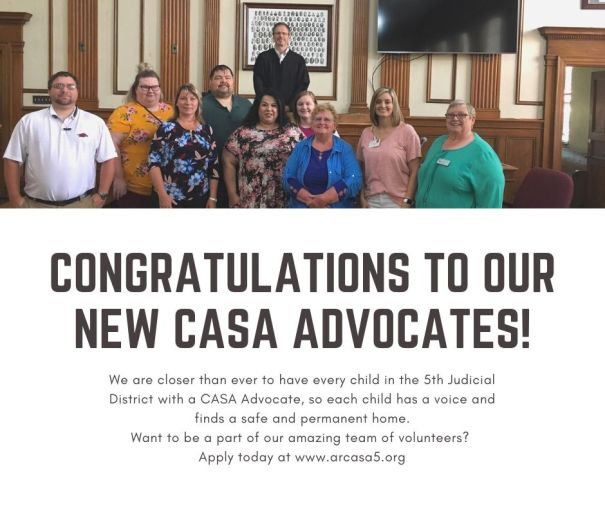 congratulations to our new casa advocates!