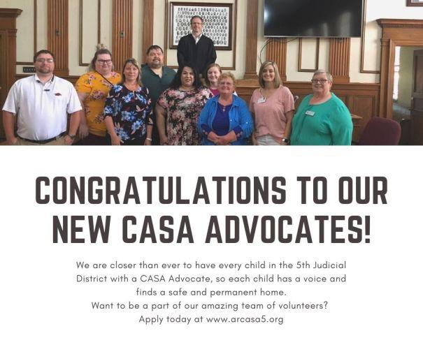 congratulations to our new casa advocates!