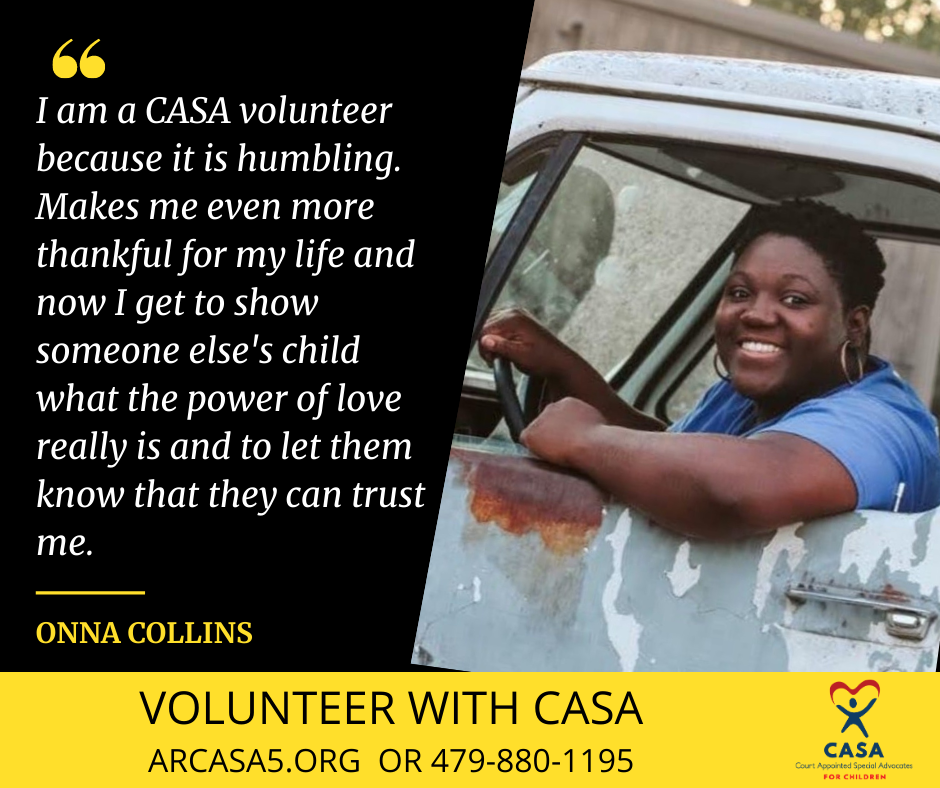I am a CASA volunteer because as a retired teacher, I can still serve children. My skill set is somewhat different from others and can find information about education that many many not be aware (1)